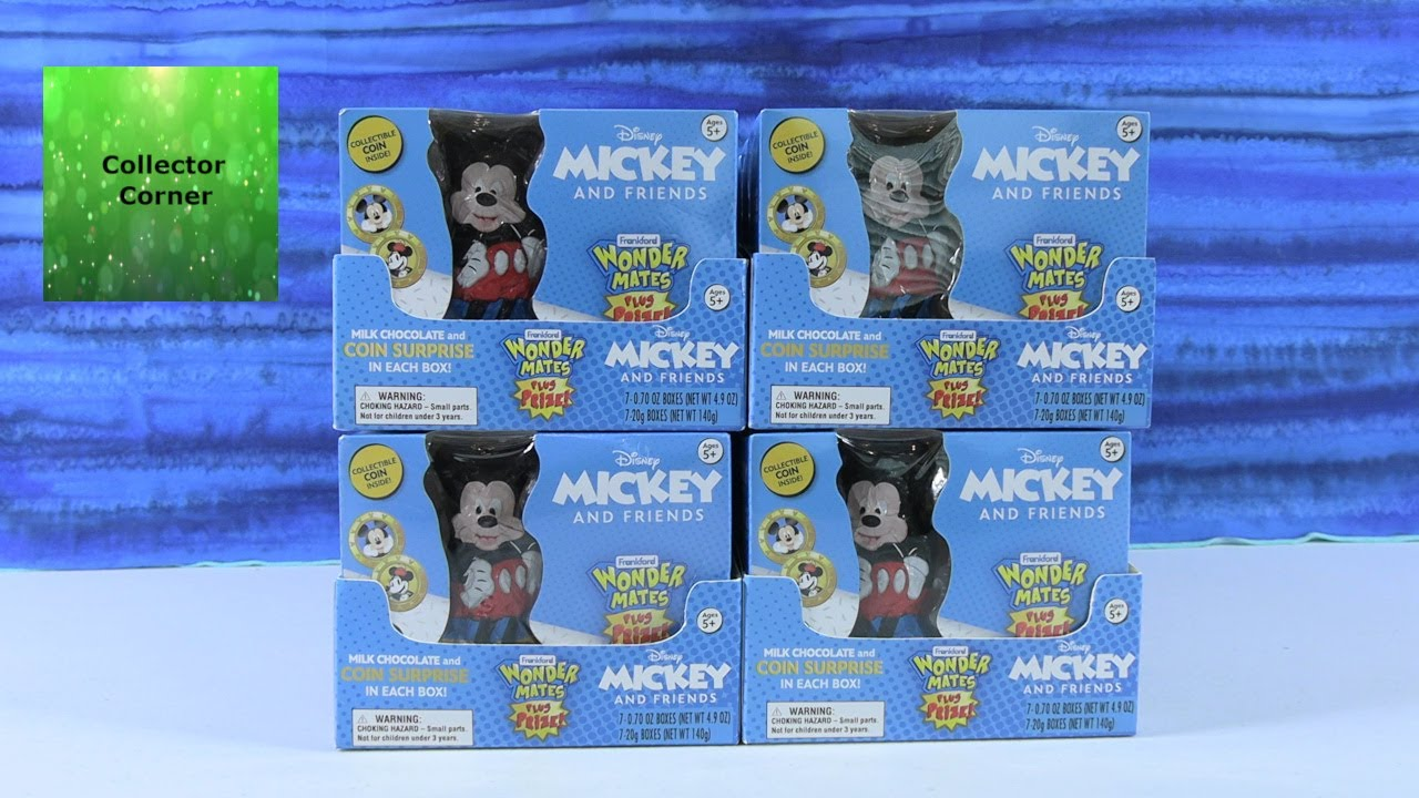 Disney Wonder Mates Mickey & Friends Collectible Coin Chocolate Surprise Opening | CollectorCorner