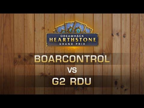 HS - BoarControl vs. G2 Rdu - Round of 8 - Hearthstone Grand Prix DreamHack Summer 2016