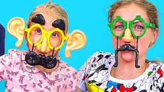 СМЕШНЫЕ ЛИЦА ЧЕЛЛЕНДЖ детское развлекательное видео от канала Принцесса Милана