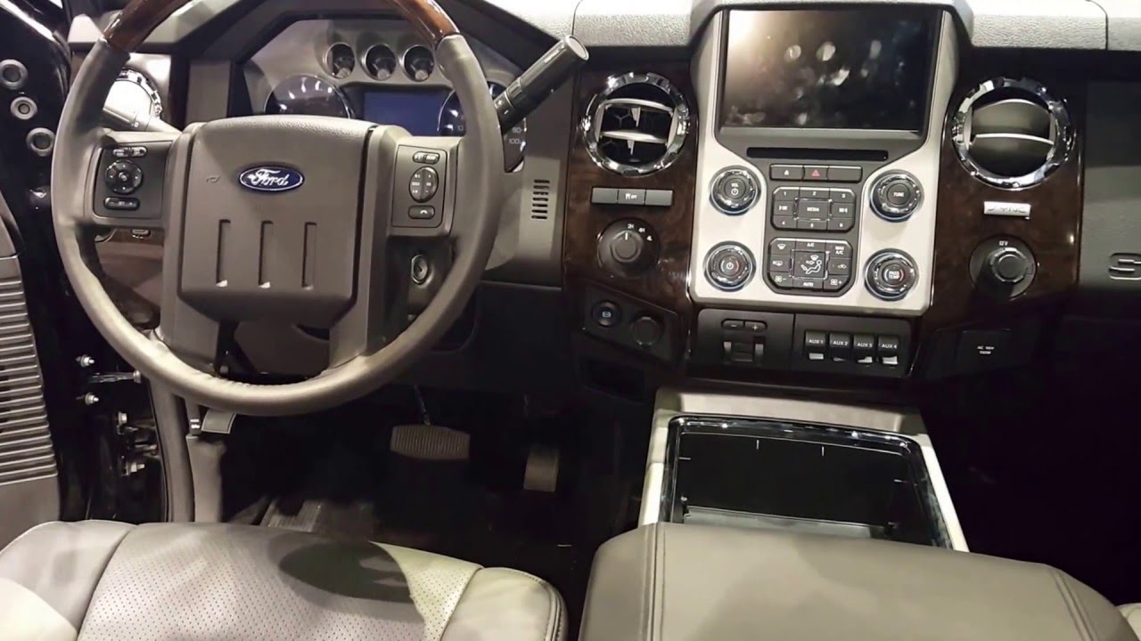 Ford F  Super Duty Lariat Interior  Chicago Auto Show Youtube