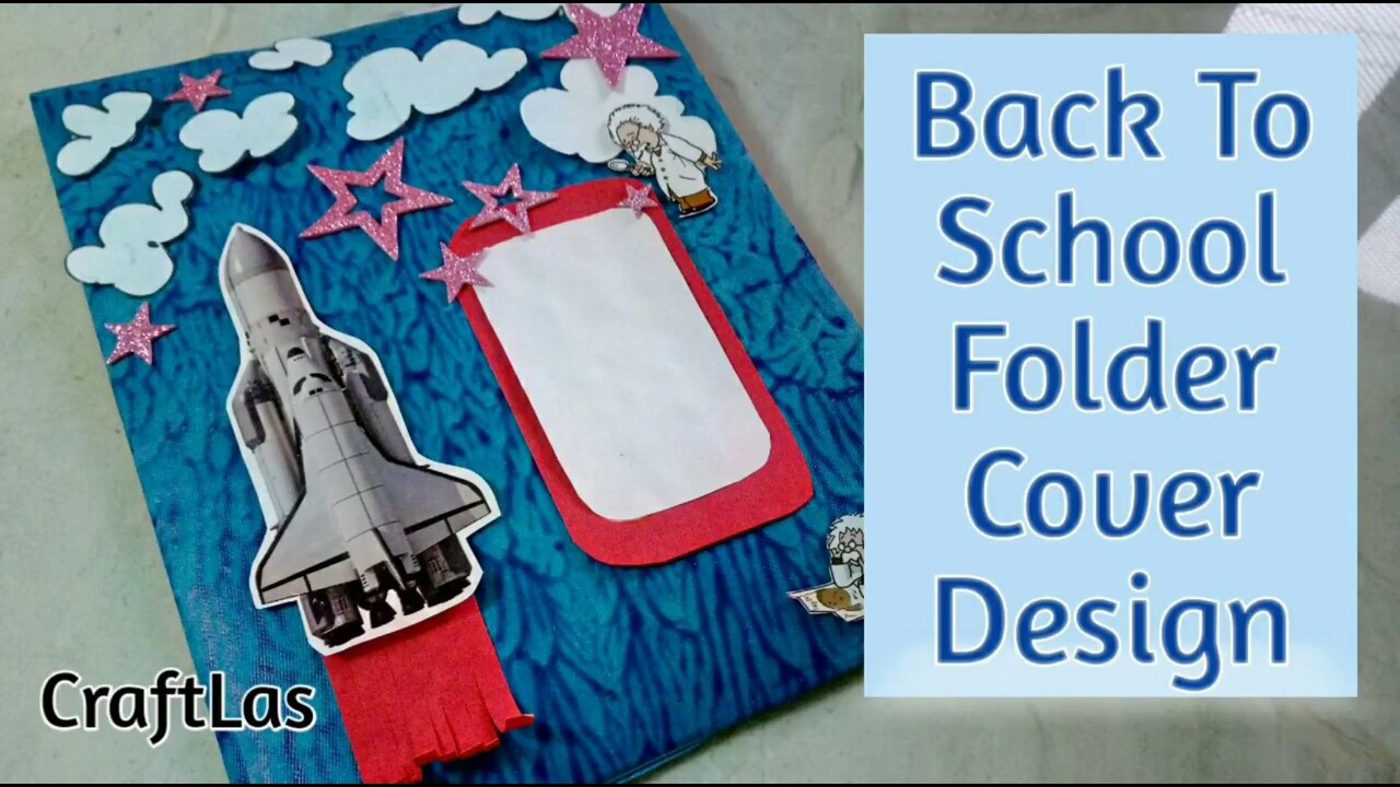 back to school folder cover design idea how to craftlas youtube