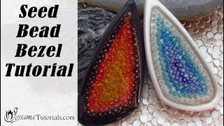 Polymer Clay Project: Fire & Ice Seed Bead Bezel