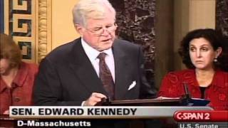 "Ted Kennedy: ""Rep. Ron Paul, a Republican congressman from Texas, does not agree"""