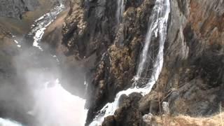 Vøringfossen waterfall - near Eidfjord, Norway - May 9, 2013
