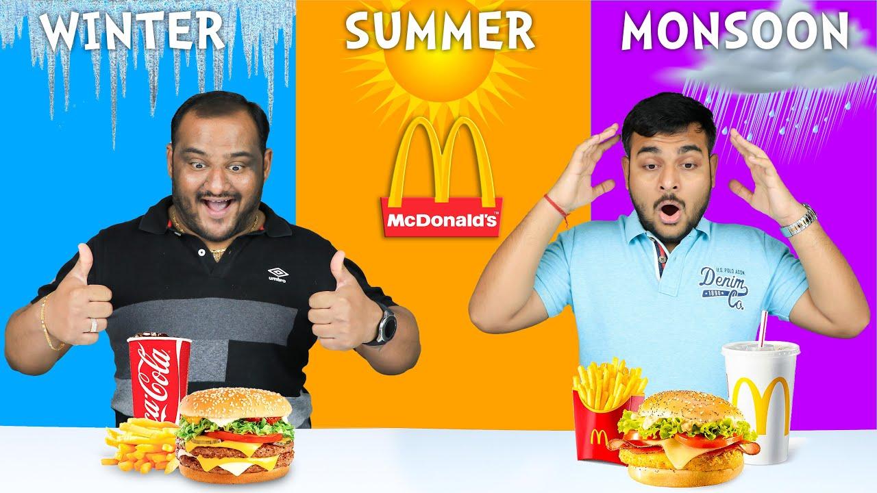 All Seasons Food Challenge | Mcdonald's Food Eating Competition | Eating Challenge | Viwa Food World