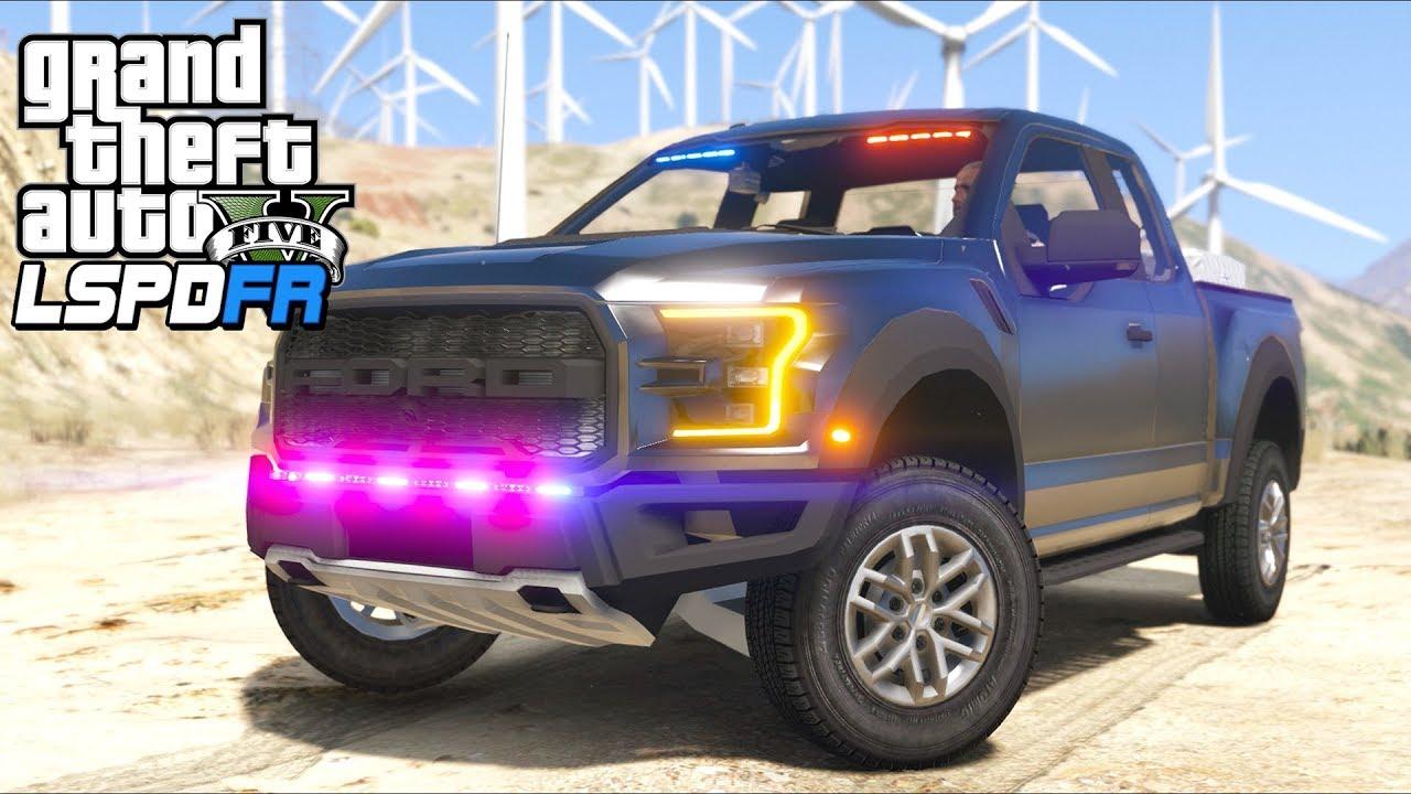 gta  lspdfr ep unmarked ford   raptor highway patrol youtube