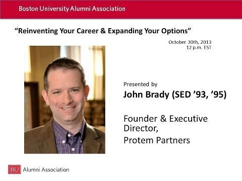 John Brady: Reinventing Your Career