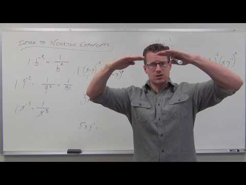 Introduction To Negative Exponents (TTP Video 72)