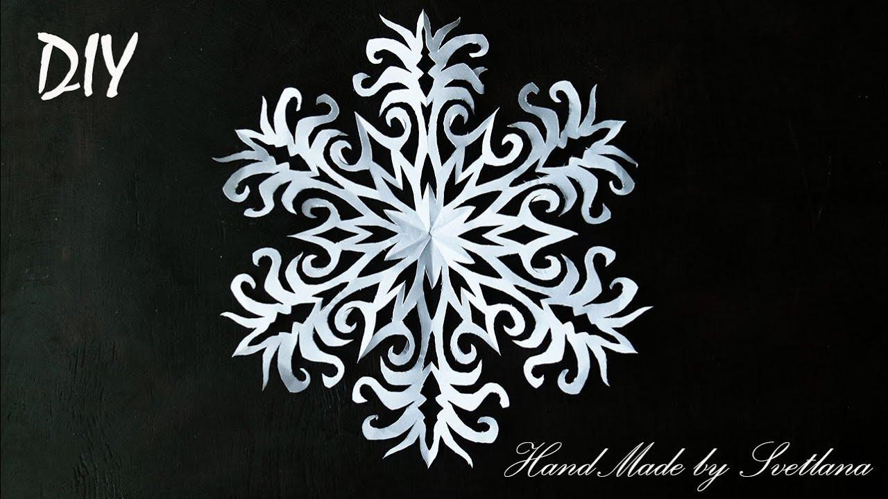 снежинка из бумаги как вырезать снежинки схема Snowflakes From Paper Schneeflocke Aus Papier