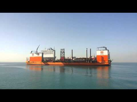 the largest carrier in the world maritime transports Kraktin to work channel
