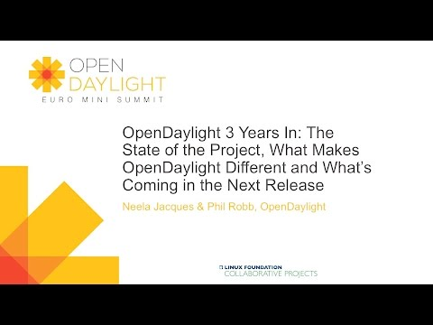 OpenDaylight 3 Years In: The State of the Project, What Makes OpenDaylight Different