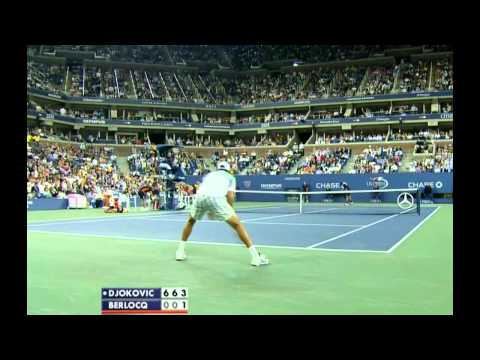 US OPEN 2011 R2 Djokovic vs Berlocq PART 2/2