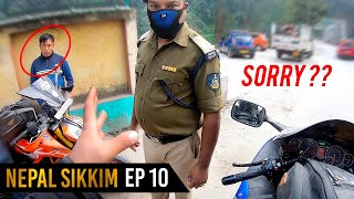 stopped by COPS in SIKKIM again