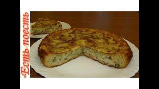 Пирог с капустой на сковороде. Ну очень нежный и вкусный!
