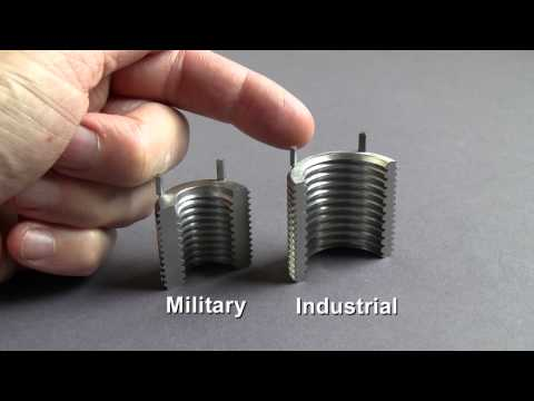 MS NAS Style Keylocking Inserts Vs Industrial Inserts