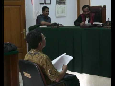 Chief Bureau Internal Compliance of Indonesian SEC testifying the Misconduct of AB & WH