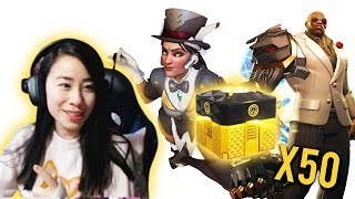 Newly created overwatch video from OasisOnOverwatch: Unboxing 50 Overwatch 2018 Anniversary Lootboxes!!