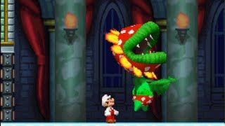 New Super Mario Bros. (DS) 100% Walkthrough - World 5 (All Star Coins & Secret Exits)