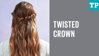 How to do a twisted crown