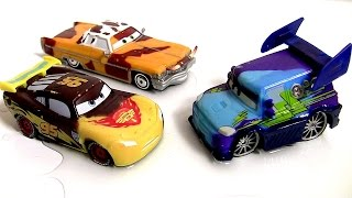 Cars Color Changers DJ Tunerz, Pistoncup Lightning McQueen, Tex Dinoco Disney Pixar Multicolor