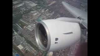 Boeing 777 Takeoff - Thai Airways full view superloud full trust Rolls Royce Trent 800 jet engines