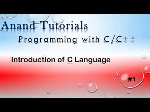 C programming Tutorial. Introduction of C Language in Hindi. thumbnail