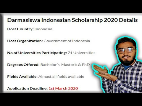 Indonesian Government Scholarship 2020 || Fully Funded Program || Knowlege is Power || Talha Khalil