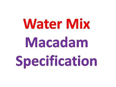 water mix macadam specification