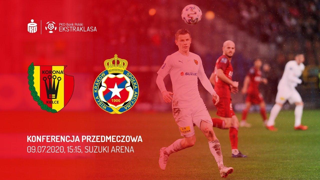 Jakub Żubrowski przed meczem Wisła Kraków - Korona Kielce (09.07.2020)