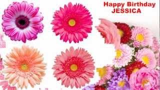 Jessica - flowers - Happy Birthday