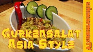 Gurkensalat Asia Style - Cucumber Salad Asia Style