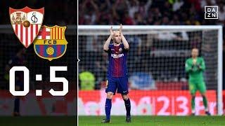 Andres Iniesta mit Maestro-Vorstellung: Sevilla - Barcelona 0:5 | Highlights | Copa del Rey | DAZN