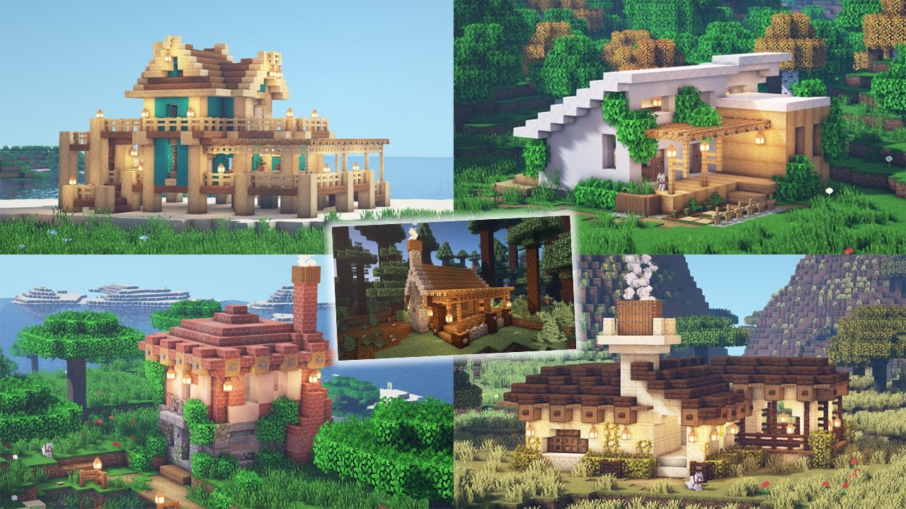 5 Build Styles for Small Minecraft Houses | Timelapse