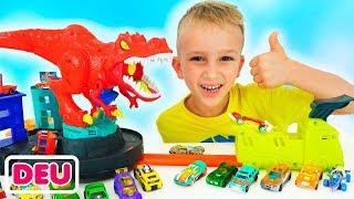 Vlad und Nikita spielen mit Spielzeugautos | Hot Wheels City