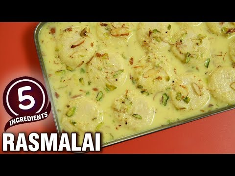 5 Ingredients Recipe - Quick & Easy Rasmalai Recipe - Indian Dessert  - Varun