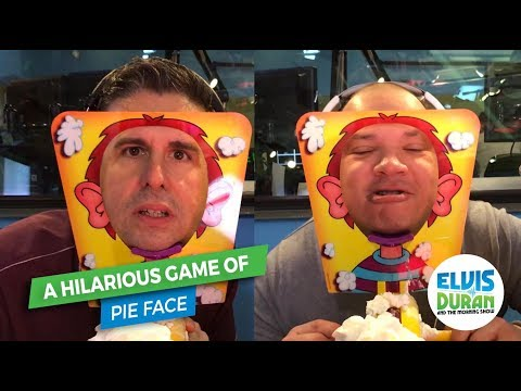 A Hilarious Game of Pie Face | Elvis Duran Exclusive