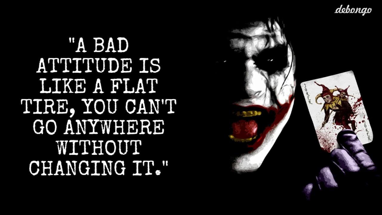 Bad Attitude Quotes Youtube