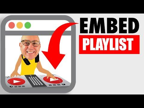 How To Embed A YouTube Playlist On A Blog - HEY com