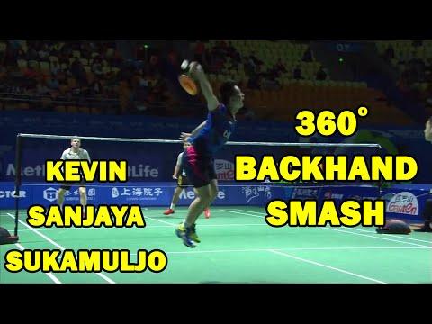 Kevin Sanjaya Aggressive Play to Beat England No.1   Kevin/ Marcus vs Ellis/ Langridge  