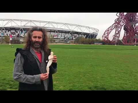 Rob visits the site for the shrouds - Queen Elizabeth Olympic Park