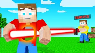 LASERS VS SPEEDRUNNER In Minecraft!