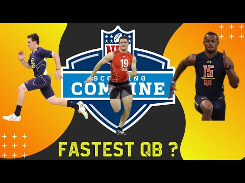 NFL Combine 40 Yard Dash (Fast QB Comparison)