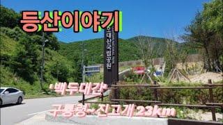 등산이야기, 백두대간 구룡령~진고개 23km