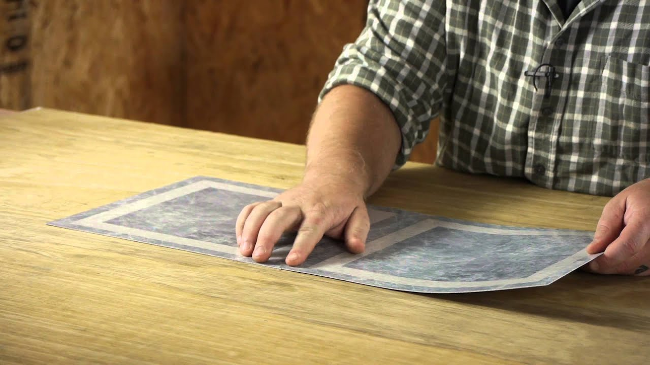 How to Install Vinyl Floor Tile With Arrows on the Back of the Tile : Flooring Projects