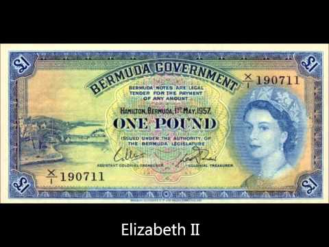 BERMUDA BANKNOTES ISSUE 1952-1966