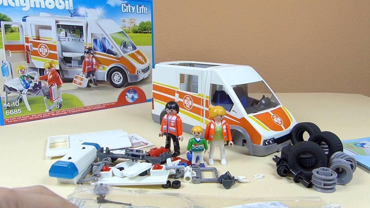 playmobil ambulance city action krankenwagen 6685. Black Bedroom Furniture Sets. Home Design Ideas