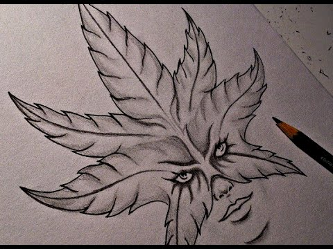 Drawing Weed Girl Tattoo Design Youtube
