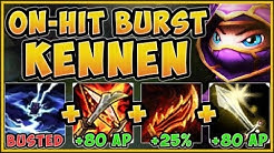 WTF! RIOT IS 100% GIVING KENNEN TOO MUCH DMG WITH ON-HIT BURST BUILD! KENNEN S9! - League of Legends