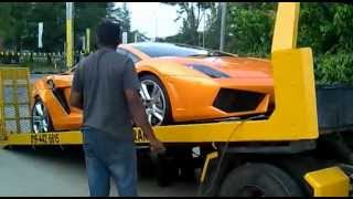 lamborghini crash at juru shell km142