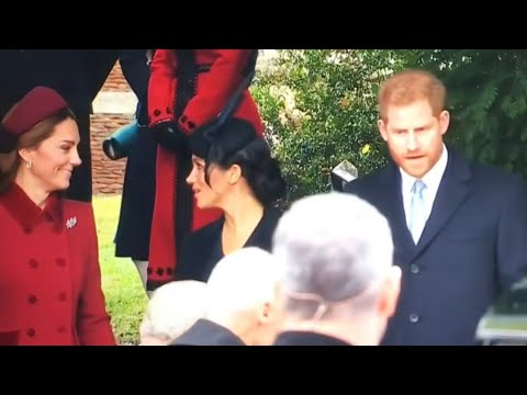 Queen & British Royal Family ALL MOMENTS Sandringham!| Christmas Day Morning 2018